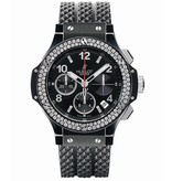 Hublot Big Bang 41mm Horloge Staal / Zwart / Rubber