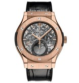 Hublot Classic Fusion Aerofusion Moonphase 45mm Horloge Roségoud / Skelet / Rubber