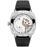 Officine Panerai Radiomir 8 days acciaio 45MM Horloge Staal / Zwart / Leder