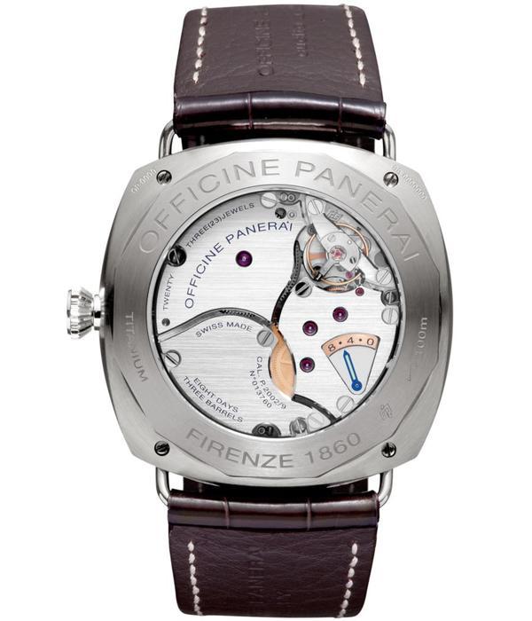 Officine Panerai Radiomir Titanium 8 Days 45mm Horloge Titanium / Bruin / Crocoleder