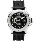 Officine Panerai Luminor Submersible 44mm Horloge Staal / Zwart / Rubber