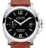 Officine Panerai Luminor Marina 40mm Horloge Staal / Zwart / Leder