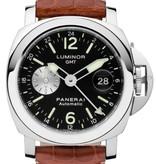 Officine Panerai Luminor GMT Automatic 44mm Horloge Staal / Zwart / Alligatorleder