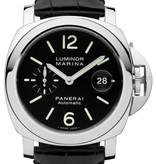Officine Panerai Luminor Marina Automatic 44mm Horloge Staal / Zwart / Alligatorleder