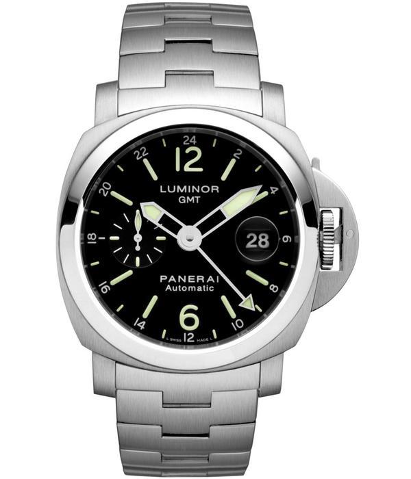 Officine Panerai Luminor GMT 44mm Horloge Staal / Zwart / Staal