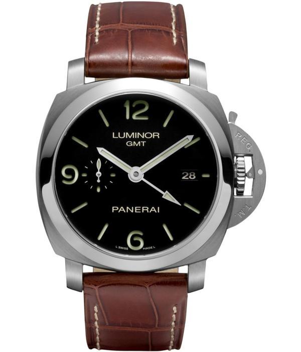 Officine Panerai Luminor 1950 3 Days Automatic 44mm Horloge Staal / Zwart / Leder