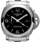 Officine Panerai Luminor 1950 3 Days GMT Horloge Staal / Zwart / Staal