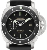 Officine Panerai Luminor 1950 Submersible 47mm Horloge Titanium / Zwart / Rubber