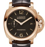 Officine Panerai Luminor Marina 1950 3 Days Automatic Oro Rosso 42mm Horloge Roségoud / Bruin / Crocoleder
