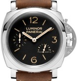 Officine Panerai Luminor Marina 1950 3 Days Power Reserve 47mm Horloge Staal / Zwart / Leder