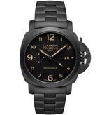 Officine Panerai Tuttonero Luminor 1950 3 Days GMT Automatic 44mm Horloge Keramiek / Zwart / Keramiek