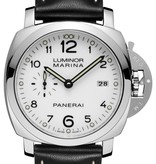 Officine Panerai Luminor 1950 Marina Horloge Staal / Wit / Leder