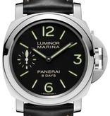 Officine Panerai Luminor Marina 8 days acciaio Horloge Staal / Zwart / Leder