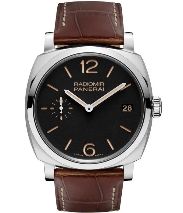 Officine Panerai Radiomir 1940 3 Days 47mm P3000 Horloge Staal / Zwart / Leder
