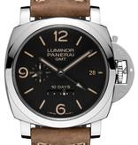 Officine Panerai Luminor 1950 10 Days GMT 44mm Horloge Staal Zwart / Leder