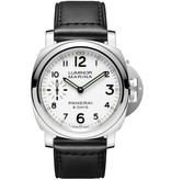 Officine Panerai Luminor 44mm marina Horloge Staal / Wit / Kalfsleder