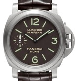 Officine Panerai Luminor 44mm Base Horloge Staal / Zwart / Leder