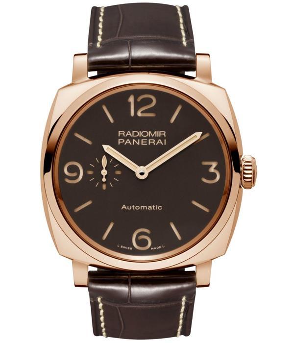 Officine Panerai Radiomir 1940 Horloge Staal / Bruin / Alligatorleder