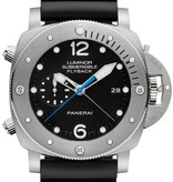 Officine Panerai Luminor 1950 Submersible Horloge Carbon / Zwart / Rubber