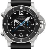 Officine Panerai Luminor 1950 Submersible Horloge Titanium / Zwart / Rubber