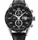 Tag Heuer Carrera Calibre 1887 Chronograph Horloge Staal / Zwart / Alligatorleder