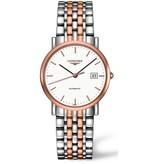 Longines La Grande Classique de Longines 34mm Horloge Staal / Roségoud / Wit