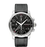 Montblanc Time Walker Collection Horloge Staal Zwart / Crocoleder