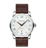 Montblanc Time Walker 42mm Horloge Staal Zilver / Crocoleder
