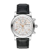 Montblanc Star Collection 42mm Automatic Chronograph UTC Horloge Staal Zilver / Crocoleder