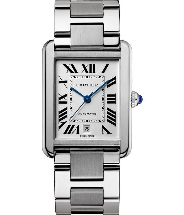 Cartier Tank Solo XL 40mm Horloge Staal / Zilver