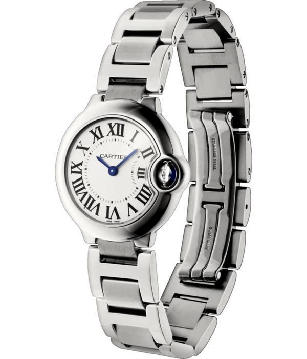 Cartier Ballon Bleu 28mm Horloge Staal / Zilver / Staal