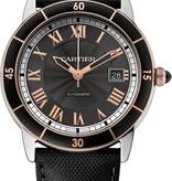Cartier Croisiere 42mm Herenhorloge Staal / Goud / Grijs / Kalfsleder