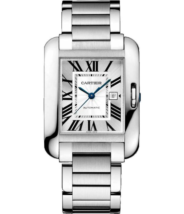 Cartier Tank Anglaise 39mm Horloge Staal / Zilver