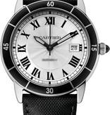 Cartier Croisiere Herenhorloge Staal Zilver / Alligatorleder