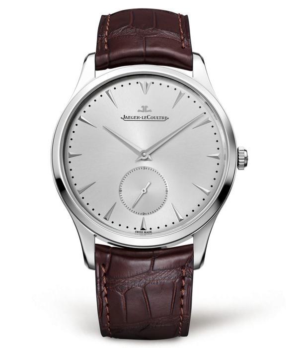 Jaeger-LeCoultre Master Grande Ultra Thin Horloge Staal / Zilver / Alligatorleder