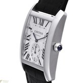Cartier Tank MC 44mm Horloge Staal / Zilver / Alligatorleder