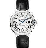 Cartier Ballon Bleu LM 36mm Horloge Staal / Zilver / Alligatorleder