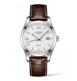 Longines Conquest Classic 40mm Horloge Staal / Zilver / Alligatorleder