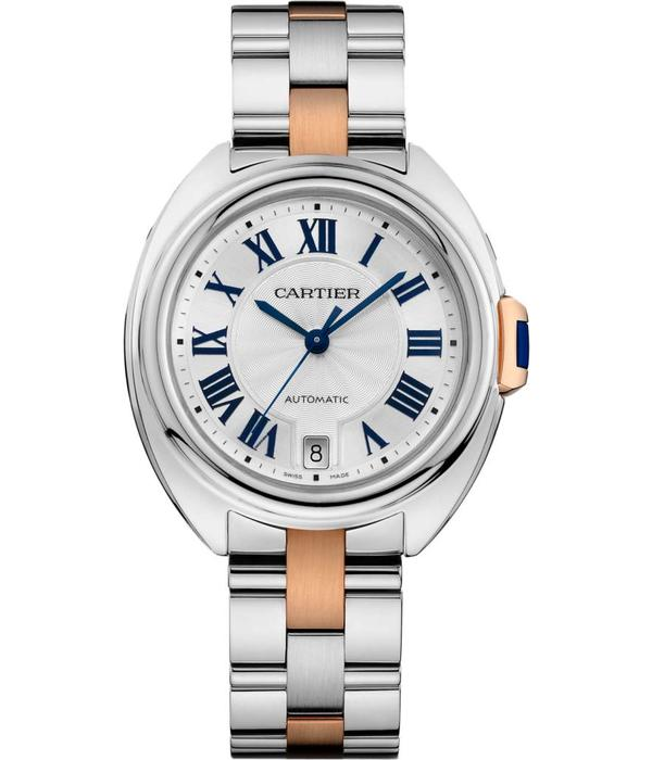 Cartier Cle de Cartier 35mm Horloge Staal / Roségoud