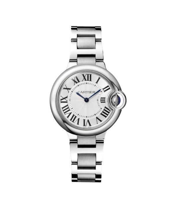Cartier Ballon Bleu 33mm Horloge Staal / Zilver / Staal