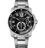 Cartier Calibre Diver 42mm Horloge Staal / Zwart / Staal