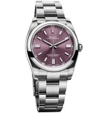 Rolex Oyster Perpetual 36mm Horloge Red Grape / Staal
