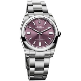 Rolex Oyster Perpetual Horloge 36mm Red Grape Staal Paars / Staal