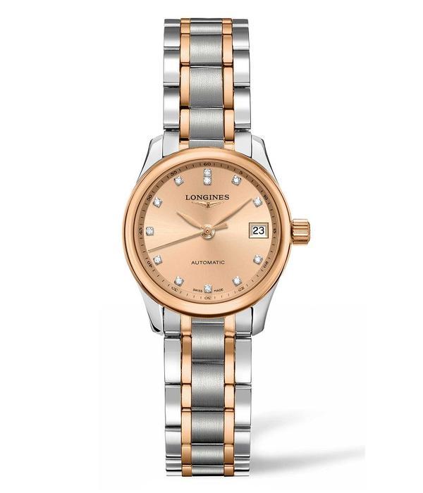 Longines Master collection 25mm Horloge Bicolor Staal / Roségoud