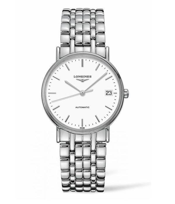 Longines Présences 34mm Horloge Staal / Wit