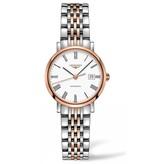 Longines Elegant Collection 29mm Horloge Staal / Roségoud / Wit