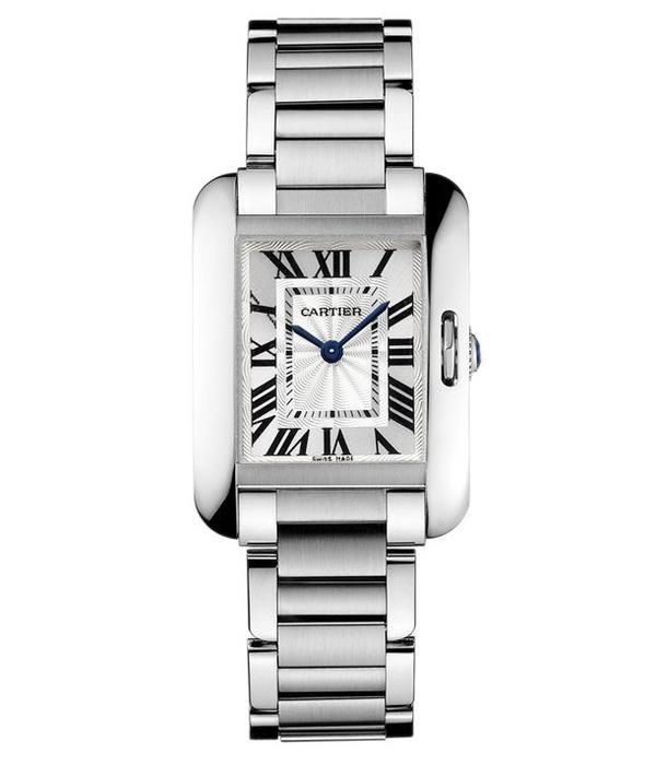 Cartier Tank Anglaise Steel SM 30mm Horloge Staal / Zilver