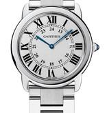 Cartier Ronde Solo LM 36mm Horloge Staal / Zilver