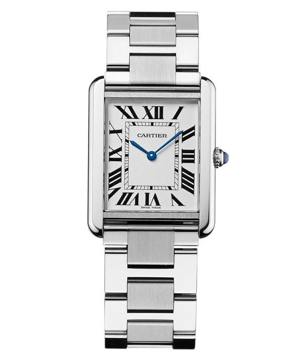 Cartier Tank Solo LM 34mm Horloge Staa /l Zilver / Staal
