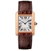 Cartier Tank Solo SM 31mm Horloge Staal / Roségoud / Zilver / Alligatorleder